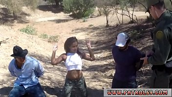Sexy blonde cop and big ass ebony police Horny border patrol tears up