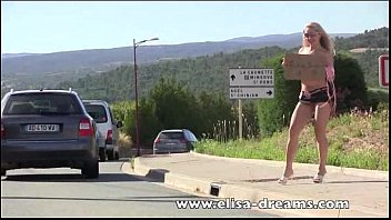 Flashing and nude in public hitchhiking