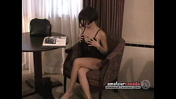Petite Latina amateur motel stripteases out of lingerie