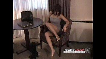 Petite Latina amateur motel stripteases out of lingerie