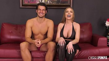 Big Tit Goddess Britney Amber Deepthroats and Rides Stiff Dick in Live Show thumbnail