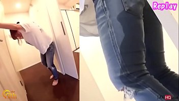Male desperate pee Japanese pee desperation and jeans wetting