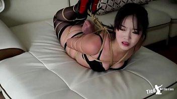 Bikini girl was tied tp - http://tiedherup.com