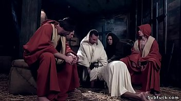 Ebony banged by Jesus and followers