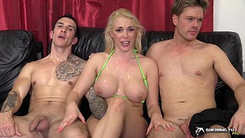 Sex view.tv - Hot blonde gangbanged in her living room