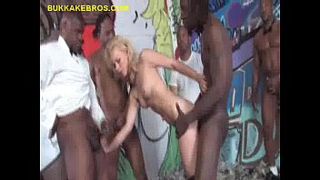 Stuff up guys ass Black gangbang and facials for blonde