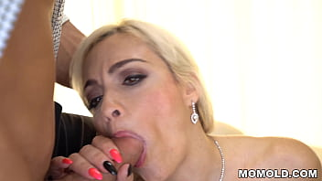 Sizzling Fake Tits MILF Mary Rider rides a young bloke