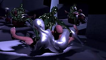 Fi sci sex Robot and slime girl fuck