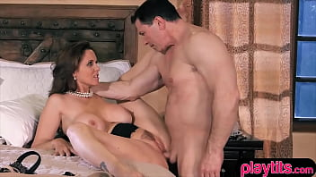 Army hero dude fucks her sex hungry brunette busty wife