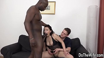 Hot brunette wife sodomized by black guy
