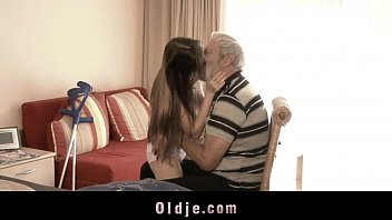 Sick teeny fucking grandpa in her bedroom