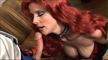 Half-naked Hannah Harper seduces man and after spreading her legs get her pussy drilled hard