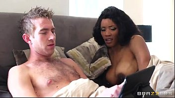 British dick Ebony fucked by white guy - brazzers.com porn