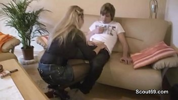German Young Son Seduce Step-Mom to get First Fuck