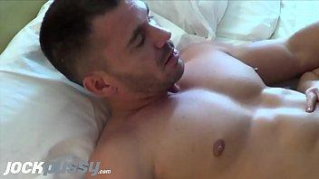 Transgender FTM stud Luke Hudson sucking big dick in oral threesome