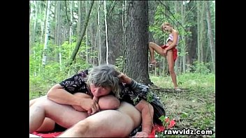 Mature voyeur fuck xhamster video Voyeur teen joins old couple in the woods for a threesome