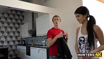 Beautiful Teen Fucks Random Guy For Cash In Front Of Nerdy BF