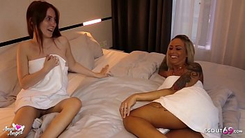 German Teen Lia Louise and Anni Angel at Birthday Threesome