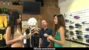 Amateur girl accepts cash for sex from stranger 22