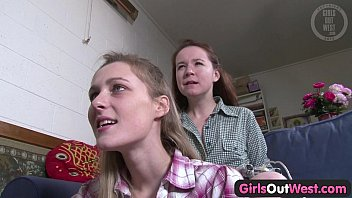 Girls Out West - Hairy and skinny Aussie lesbian chicks thumbnail