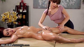 AllGirlMassage She Gives A Hard Pussy Massage To April O'Neil