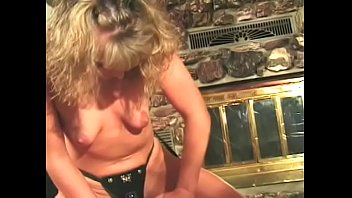 Dominating blonde fucks dude with a starp on then he cums
