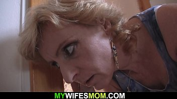 Older blonde mother inlaw