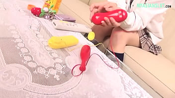 HAIRY ASIAN BABE IS USING TOYS TO ORGASM