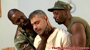 Interacial gay vids Black gay hunks spitroast white jock