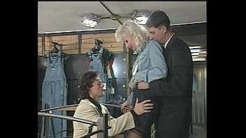 Cumshot never stops Big boobs blonde beauty in lingerie hard anal dp, milf, helen duval