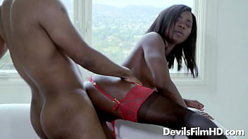 Black slut Ana Foxxx rides on a BBC