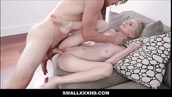Petite Blonde Teen Stepsister Alicia Williams Seduces Family Stepbrother While Brushing Her Teeth
