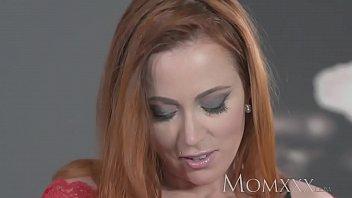 MOM Sexy redhead sucks and fucks muscle man before hot creampie