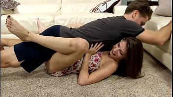 Young girls amateur wrestling Stepdaughter learns how to wrestle