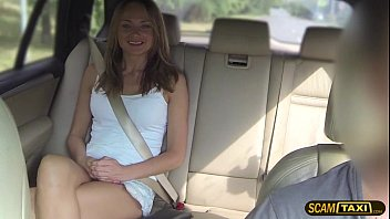 Babe Ivana rides the drivers big cock in cowgirl position