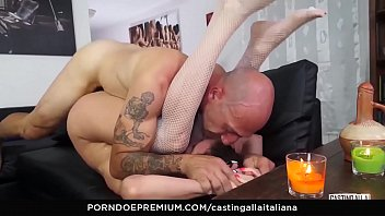 CASTING ALLA ITALIANA - Anal fuck and gape with playful Italian