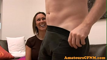 Bra handed her humiliation naked over pantie - Femdom babe humiliates guy during cfnm