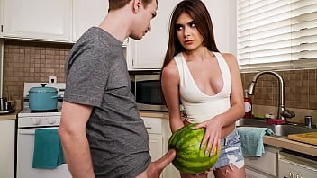 StepSister Caught Her Brother Masturbating With A Watermelon - w/ Winter Jade and Alex Jett