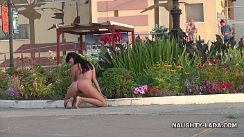Milkman young teen exhibitionist Nude and barefoot in public