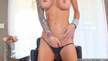 Tattooed Milf Sarah Jessie Shows Cocksucking Skill