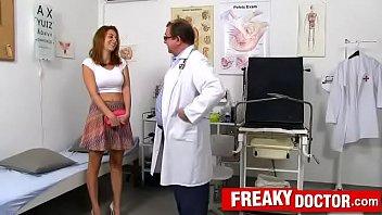 Antonia Sainz a busty babe fucking-machine treatment by daddy doctor