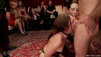 Bound sluts anal fucked at bdsm orgy