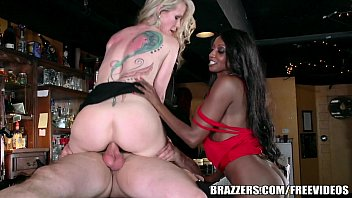 Image: Brazzers - Ebony and ivory, anal threesome
