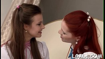 Group of raunchy and passionate legal age teenager girls lick each other