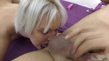Euro MILF Cecilia Scott does rimjob and has huge orgasms