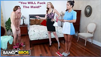 BANGBROS - MILF Julia Ann Gets Her Step Son To Fuck The Latin Maid, Abby Lee Brazil