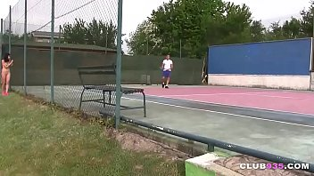 Asian protester invaded a tennis game only to get fucked