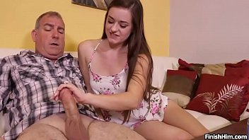 Teen skillful hands Teen wants to try her handjob skills on mature man