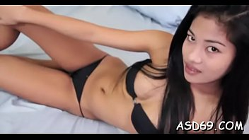 Super sexy thai beauty favors her dude with a sexy oral stimulation