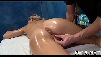 Sexy 18 year old beauty gets fucked hard by her massage therapist